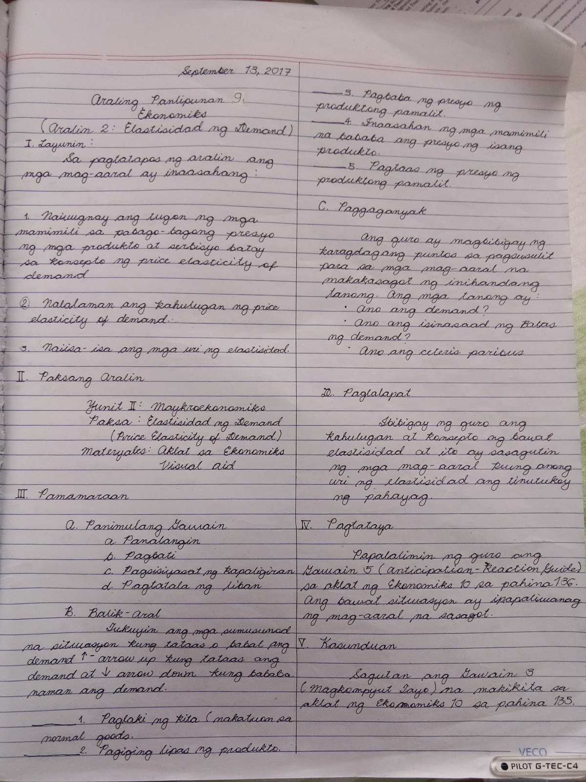Examples Of Lesson Plan Used Detailed Semi Detailed