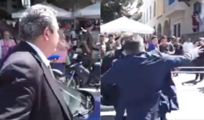"""Χαμός με βίντεο που γιουχάρουν Καμμένο, του πετάνε αντικείμενα και τον φωνάζουν """"Προδότη"""""""