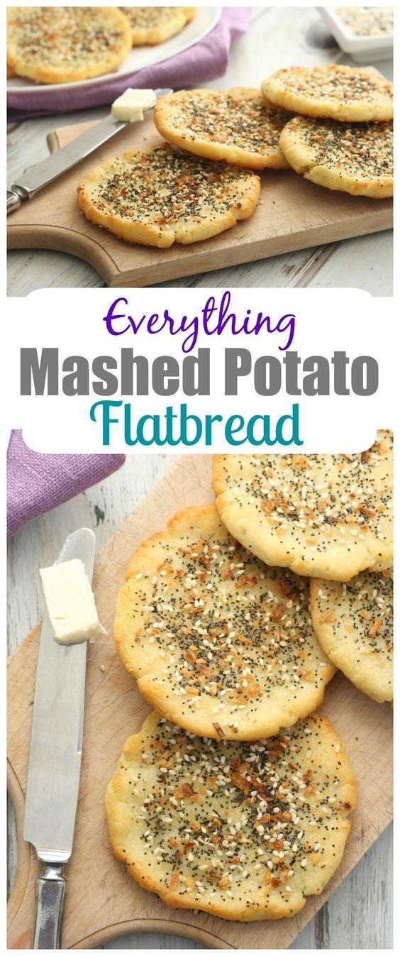 Everything Mashed Potato Flatbread