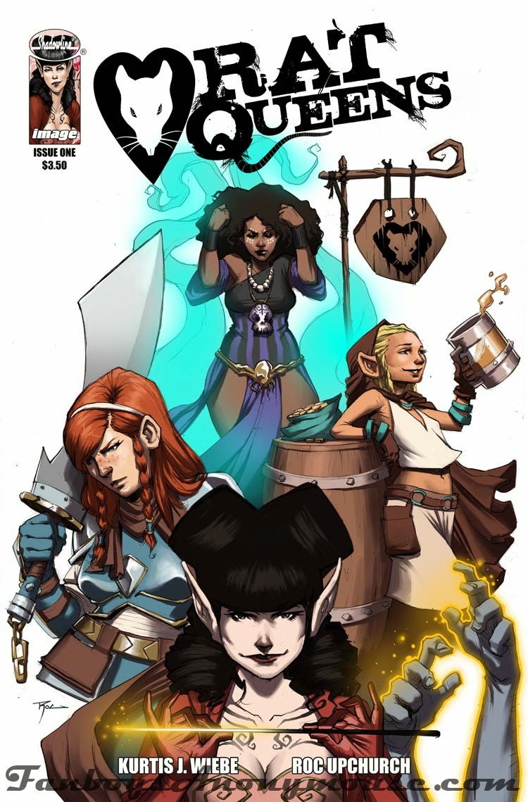 the cover to rat queens issue one featuring the girls in action