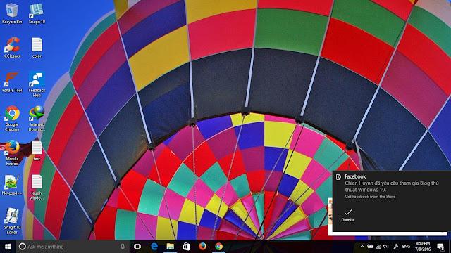 Nhận thông báo trên Windows 10 từ Facebook, Messenger và các ứng dụng khác đang cài trên điện thoại Android