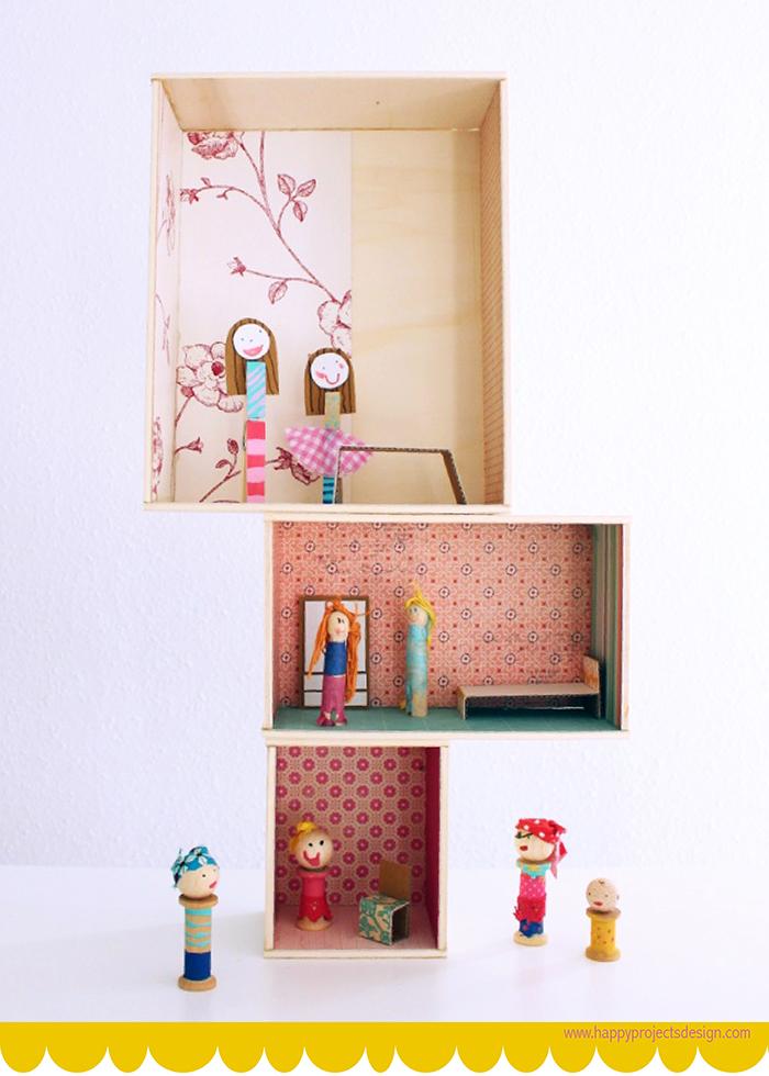 DIY casita y muñecas