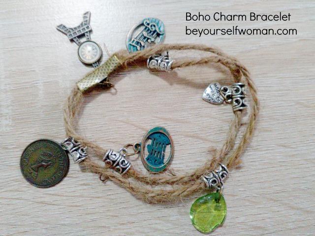 DIY Boho Charm Bracelet
