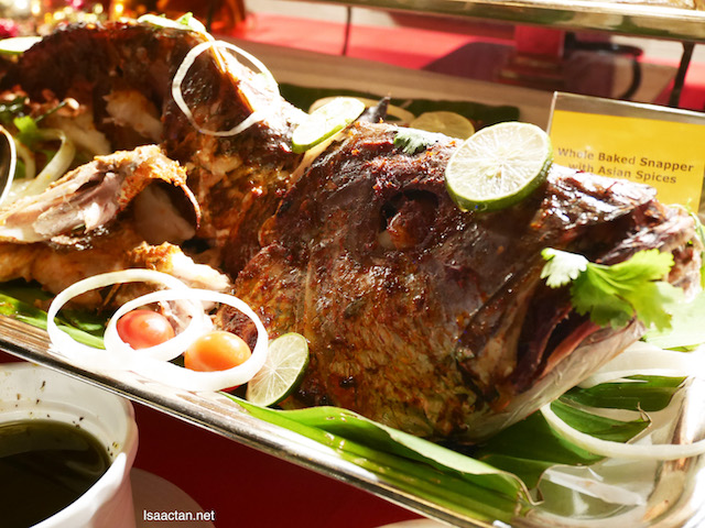 Whole Baked Snapper with Asian Spices