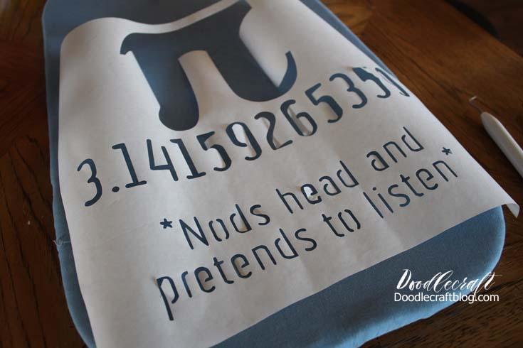 Funny Pi Shirt using Freezer Paper!