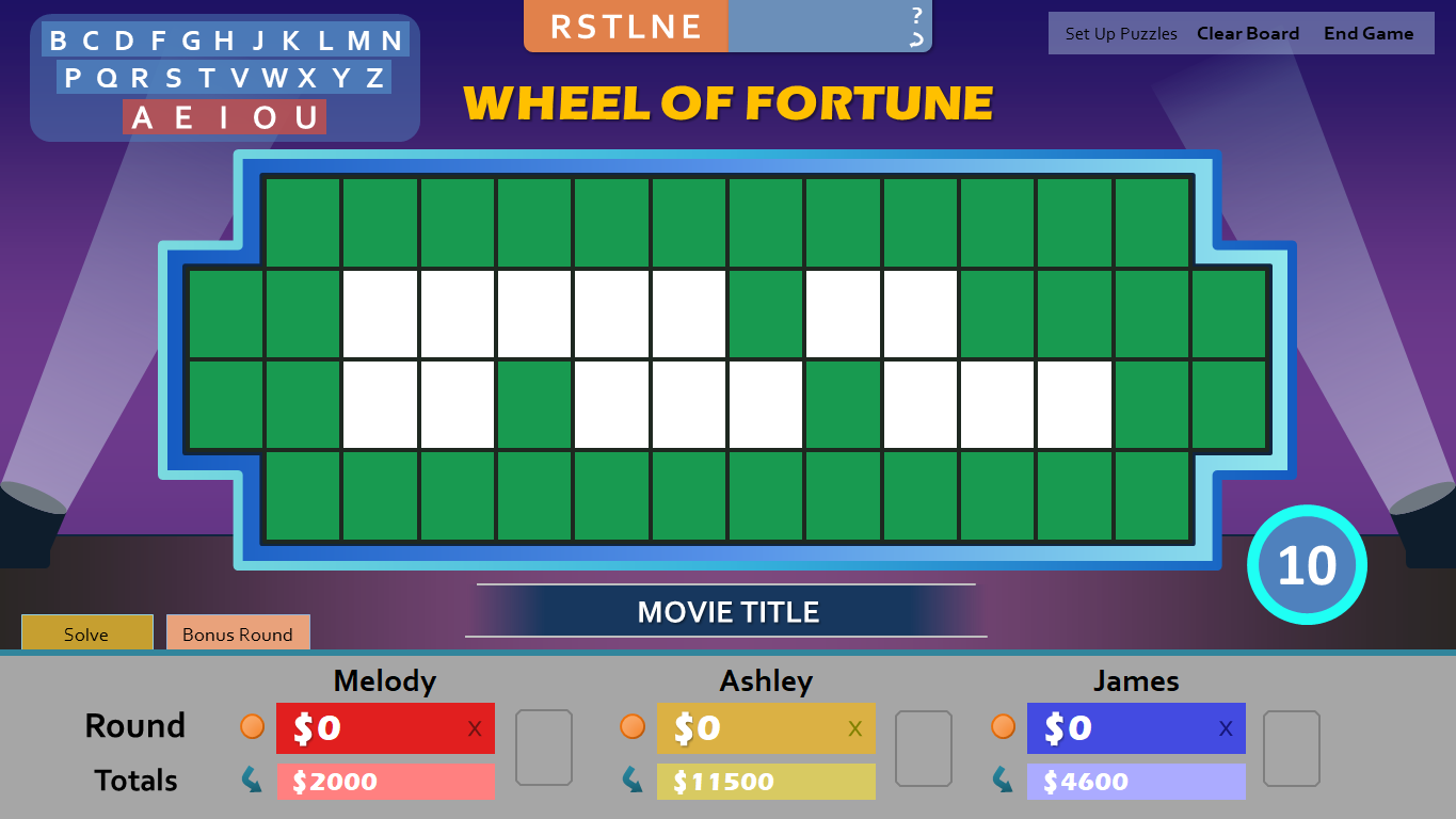 Wheel of Fortune for PowerPoint - Games by Tim WoFBonusRound1