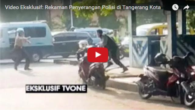 Detik-Detik Terjadinya Penyerangan Polisi di Kota Tangerang