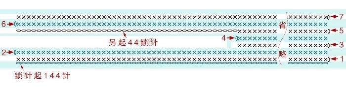 Схема боковой детали сумочки: