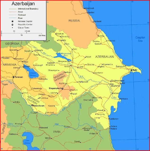 Gambar Peta Azerbaijan