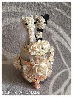 Hochzeitsgeschenk häkeln - gehäkelte Schnecken