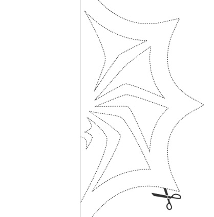 Jack Skellington Spider Snowflake Template Paper Origami Guide