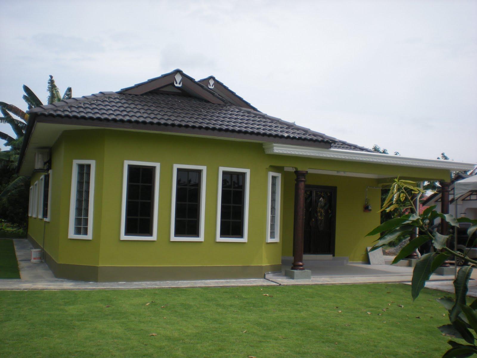Rumah Minimalis Warna Hijau Lumut Gambar Om