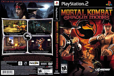 Jogo Mortal Kombat Shaolin Monkers PS2 DVD Capa