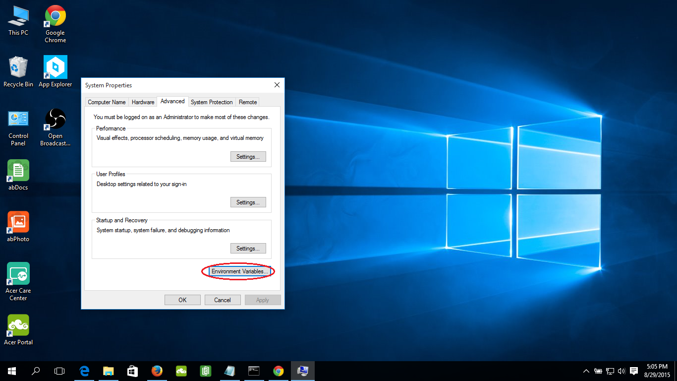 how to set java path in windows command prompt