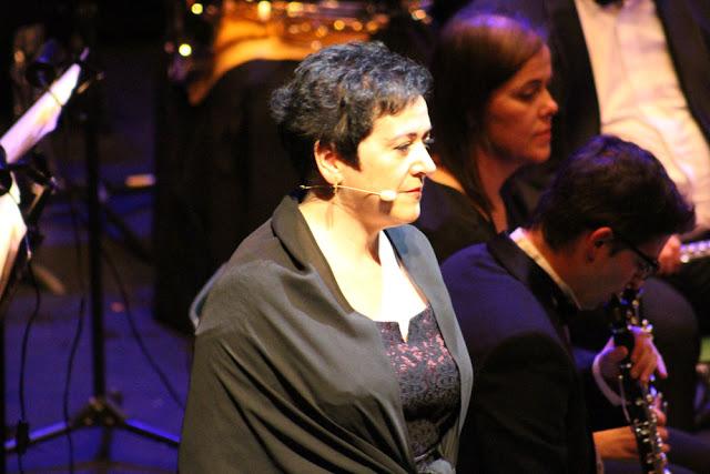 Irene Ojanguren, en el Concierto de Año Nuevo de la Banda de Música de Barakaldo