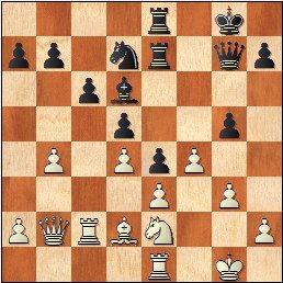 Partida de ajedrez O'Kelly - Francino, posición después de 24…Cxd7