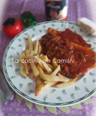 Filetes con tomate (La cocina de Camilni)