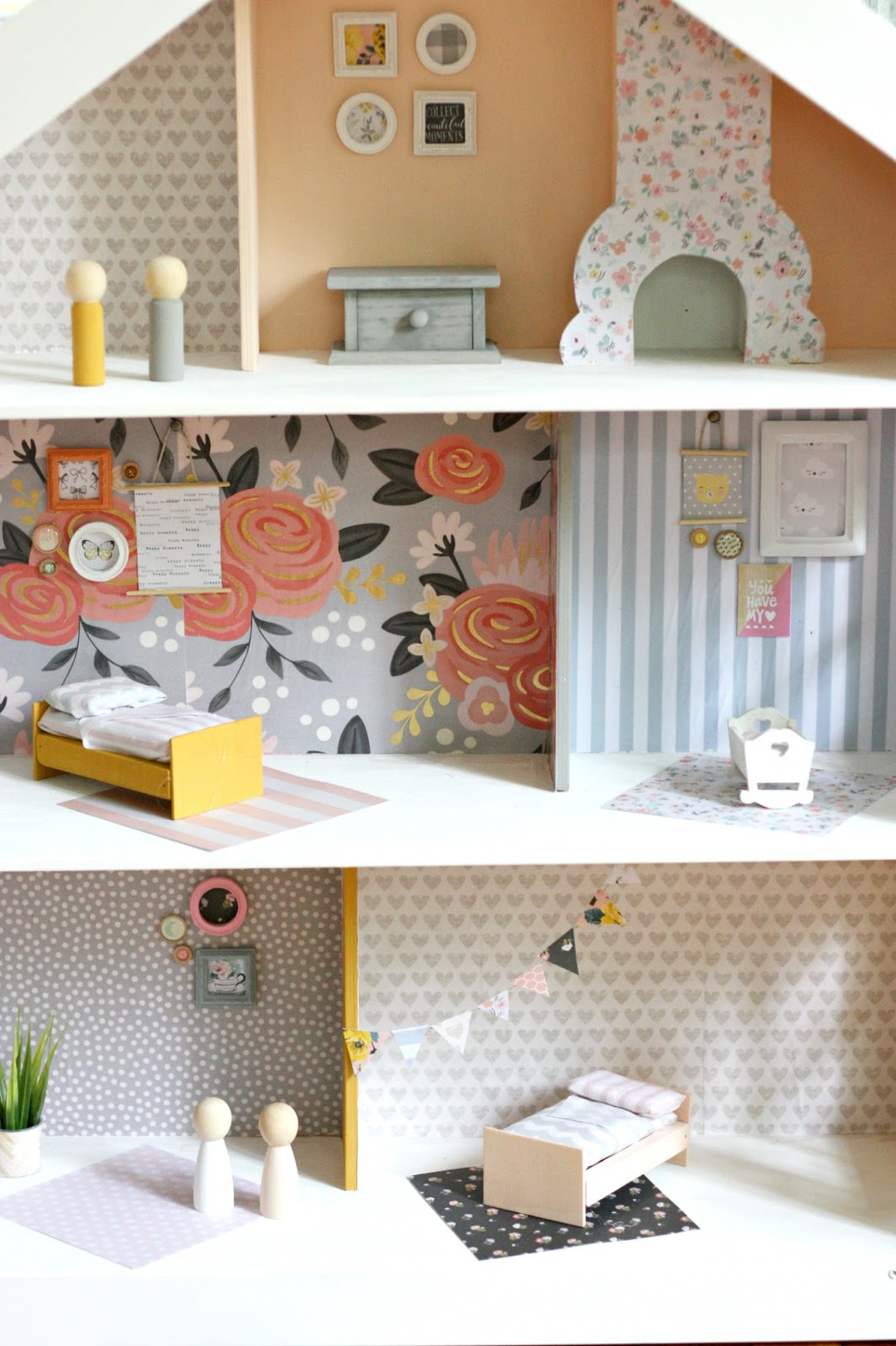 DIY Modern Dollhouse Tutorial featured by top US craft blog, The Pretty Life Girls