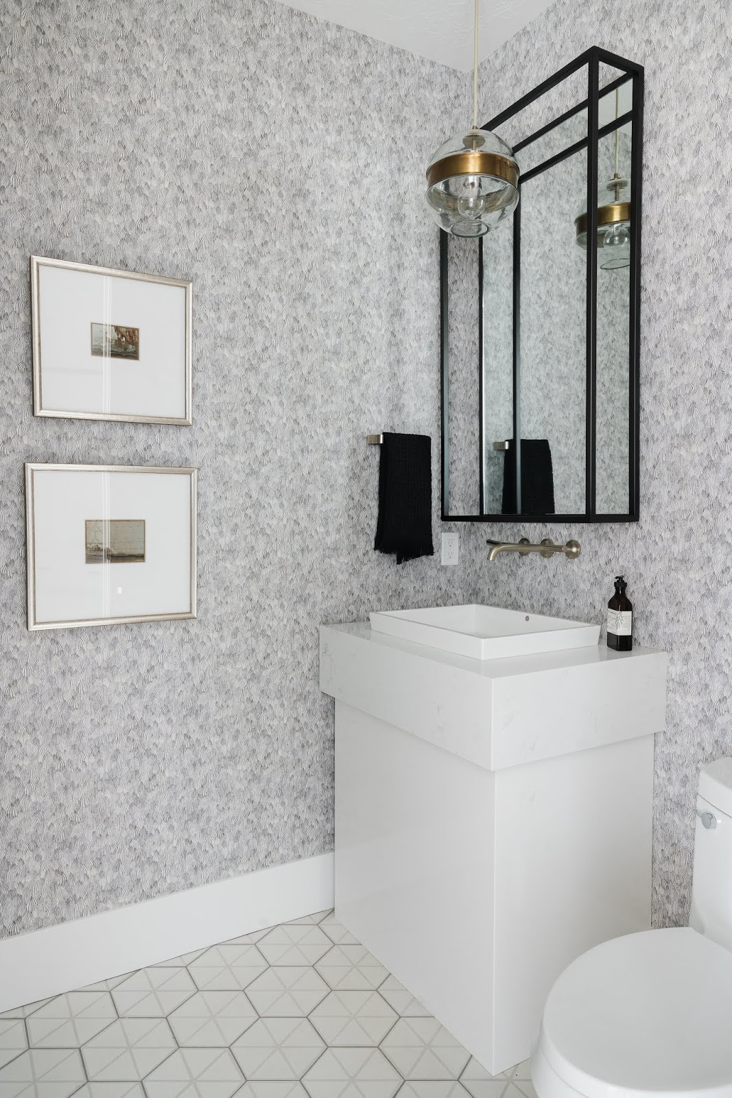 Modern Bathroom, Bathroom Wallpaper, Modern Powder Room