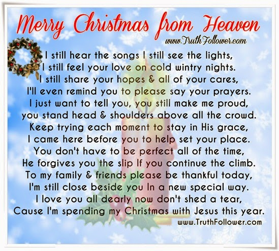 merry christmas from heaven by truth follower christmas i still hear the songs i still see the lights