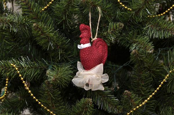Петух, петушок, подвеска на ёлку, шитьё.