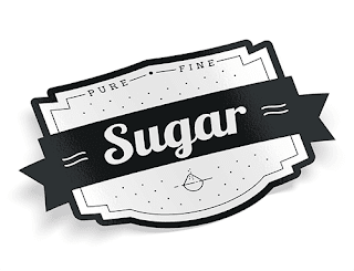 Image: Sugar - vintage food label