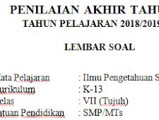 K13 Semester 2 2019 : Soal Pat / Ukk Ips Kelas 7 Kurikulum 2013 Terbaru