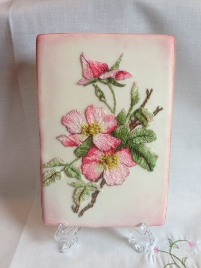 Flower Embroidery Cookie