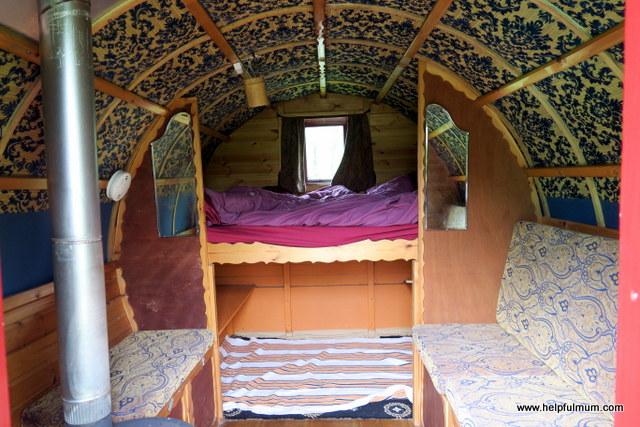 Inside a gypsy caravan