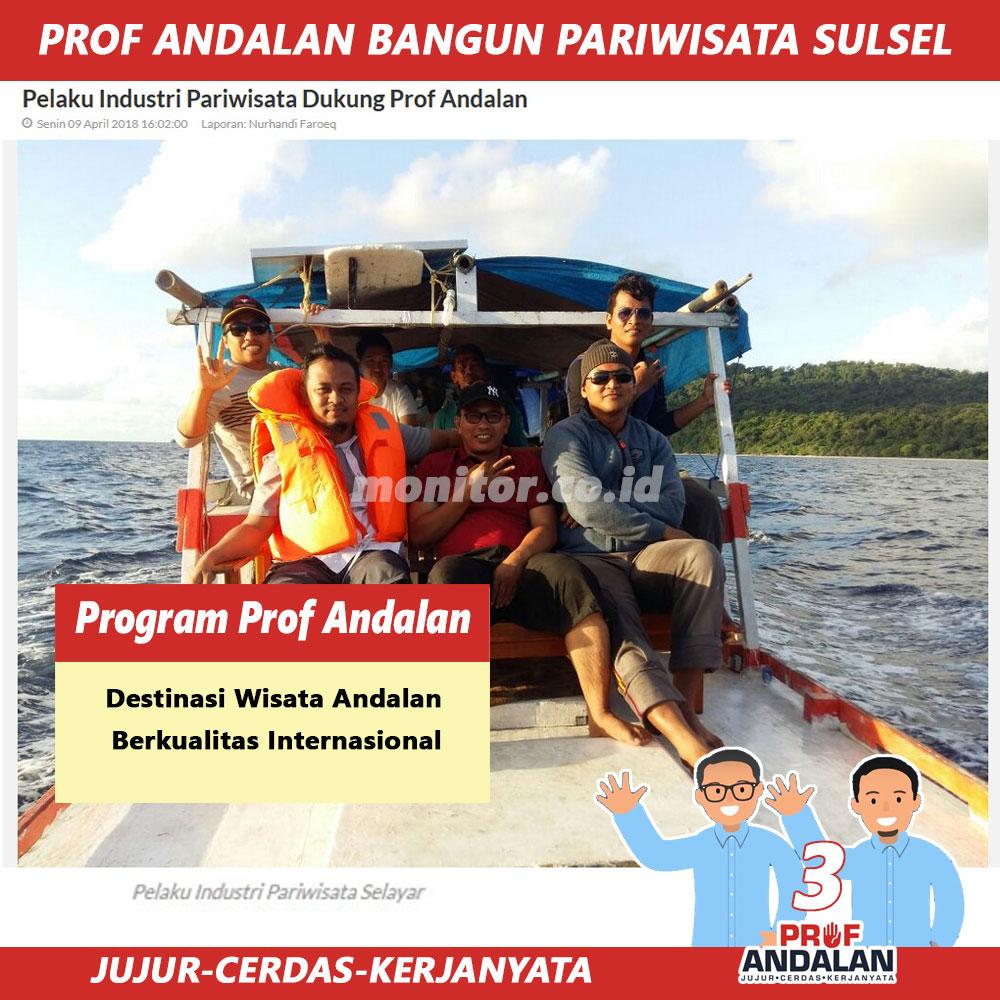 Pelaku Industri Pariwisata Dukung Prof Andalan