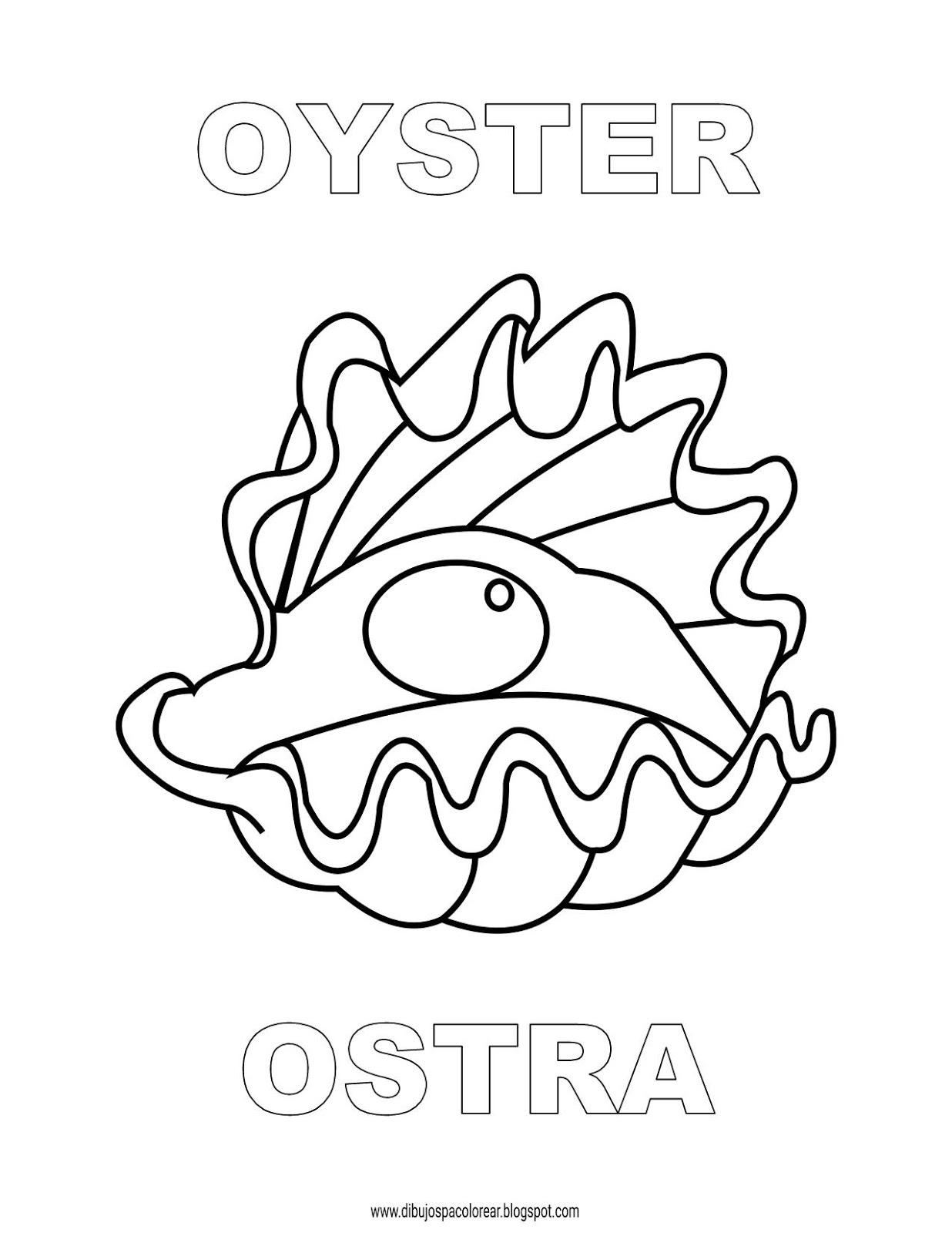 Dibujos Inglés Español Con O Ostra Oyster