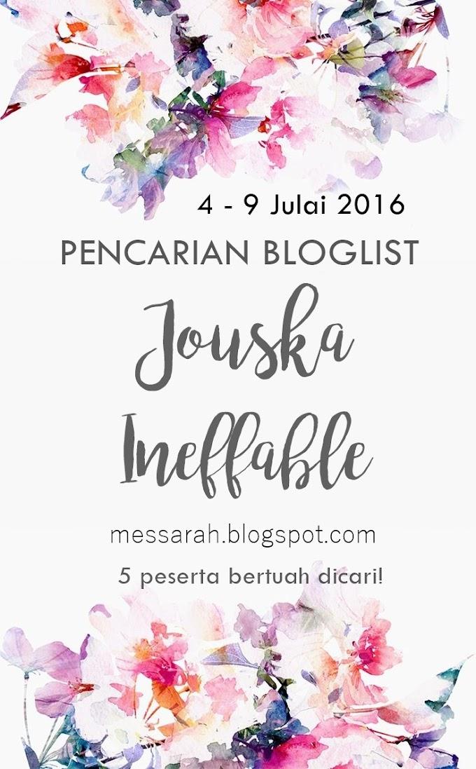 Pencarian Bloglist 2016 : Jouska Ineffable