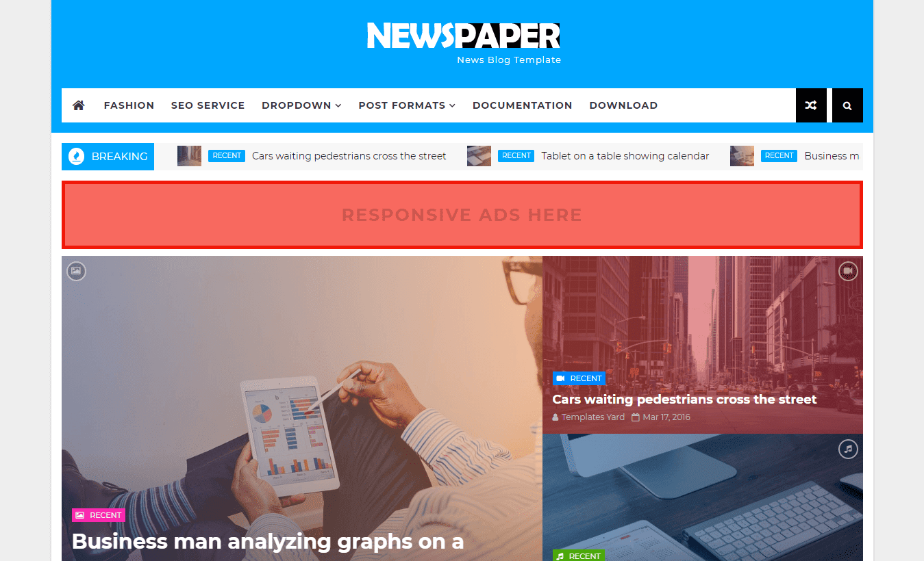 Newspaper News blogger template