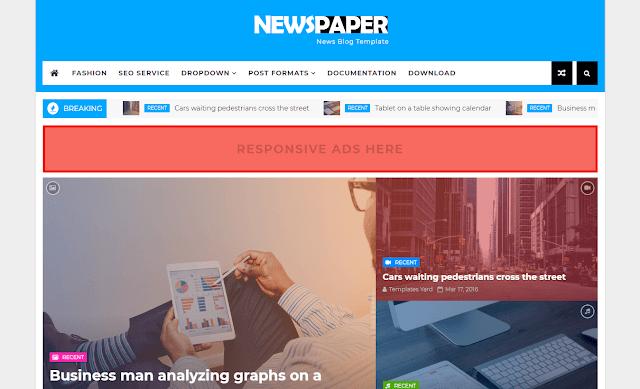Download Free Premium Newspaper News Blogger Template