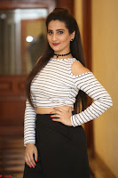 Manjusha in sleevelss crop top and black skirt at Darshakudu pre release ~  Exclusive Celebrities Galleries 093.JPG