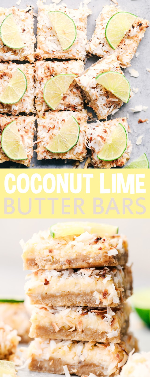 COCONUT LIME BUTTER BARS