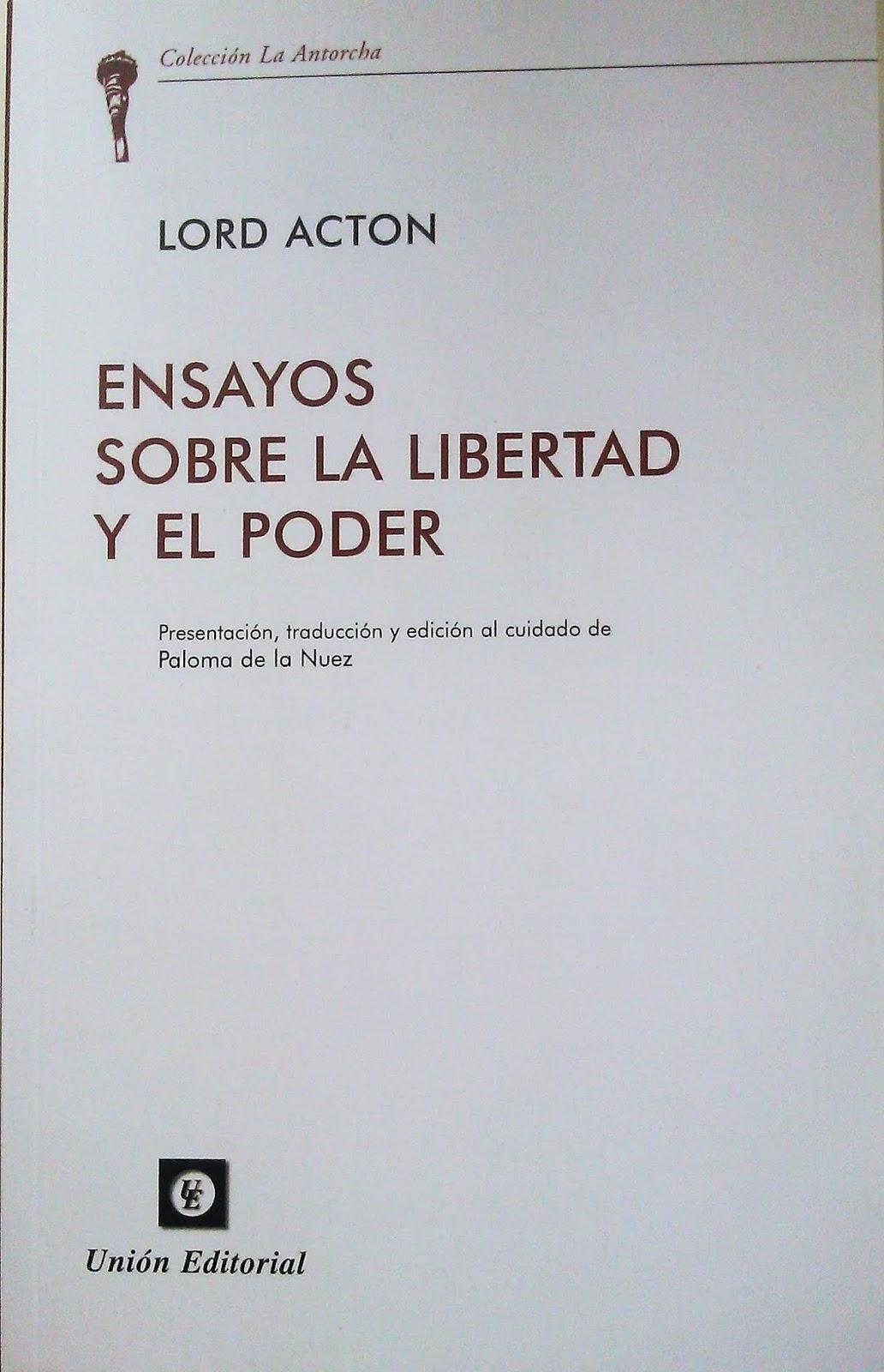 """El Aprendiz de Catón: """"Ensayos sobre la libertad y el"""