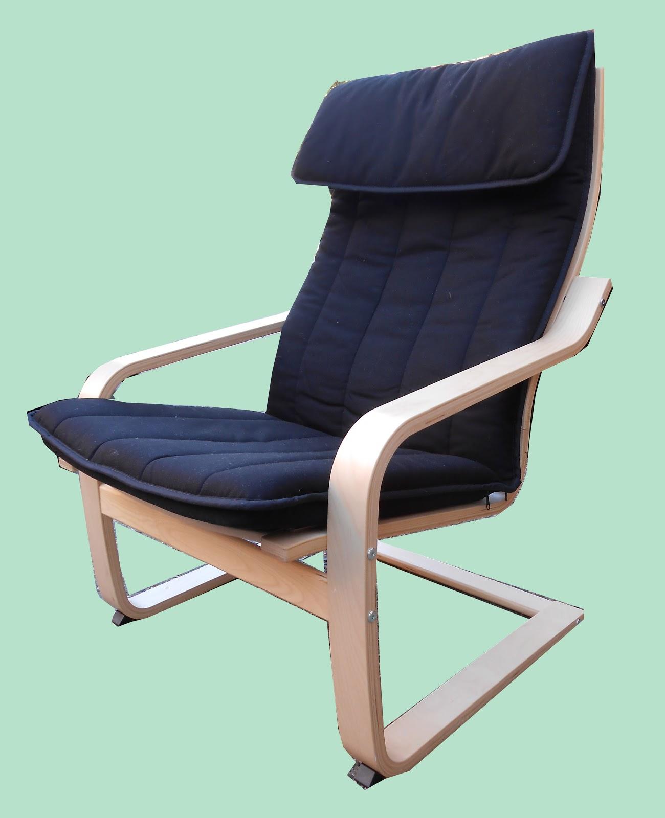 Uhuru Furniture Collectibles Ikea Poang Lounge Chair Sold