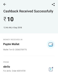 PROOF] Skrilo app : Win paytm cash upto 50 ₹ daily and being Lakhpati