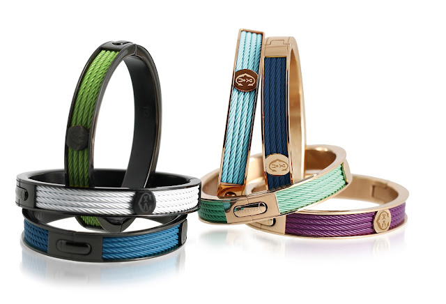 cable bracelets in a variety of colors