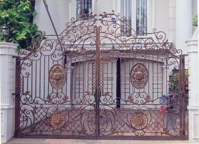 desain pagar rumah klasik