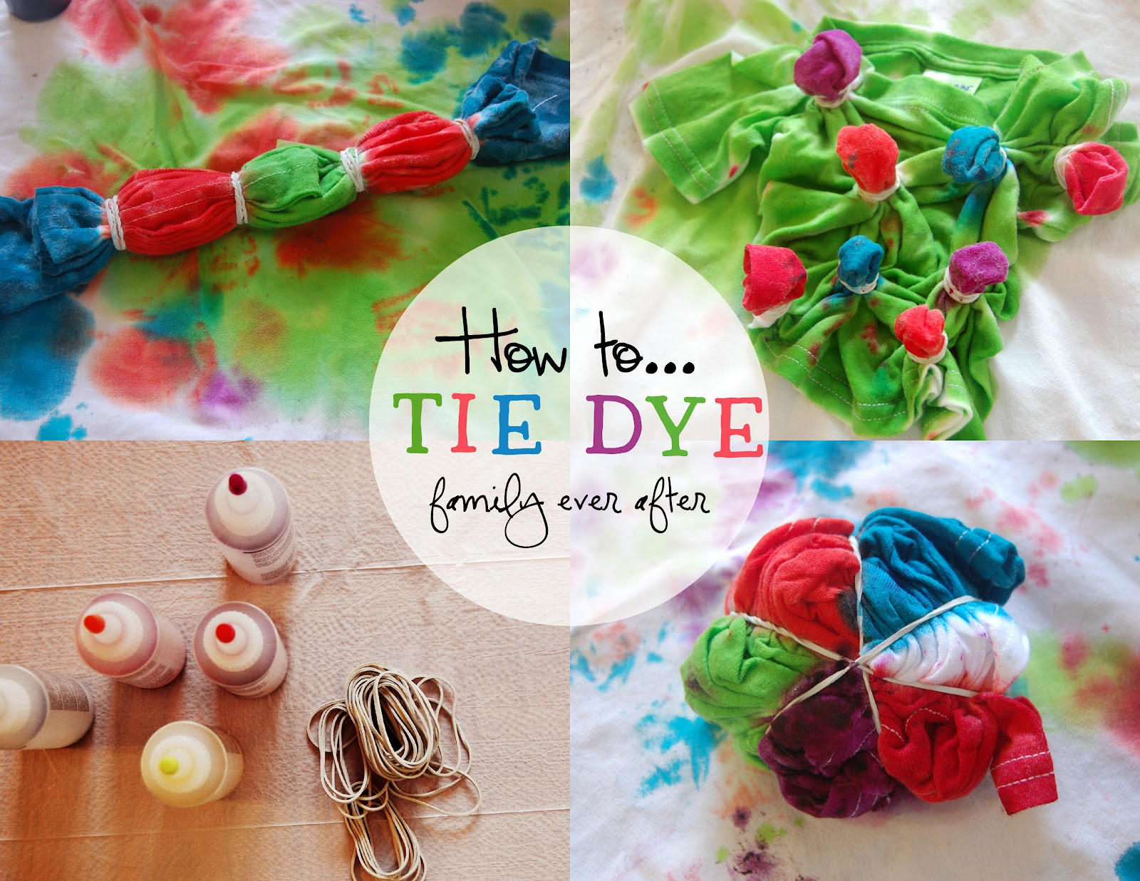 147409025e3a Family Ever After....  DIY  Tie Dye T-shirts with Kids