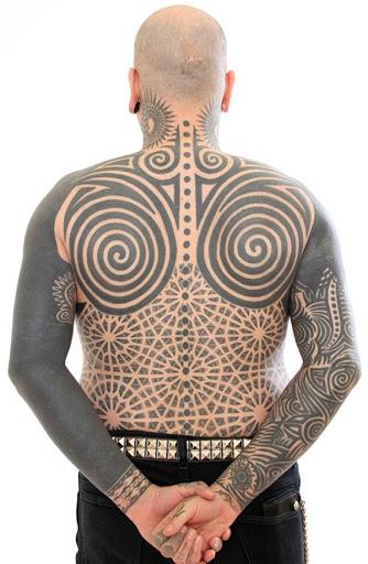 Incrível tatuagem tribal design para homens