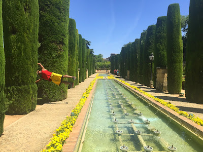 Flaggin' in the gardens of the alcazar