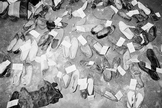 Shoes from the La Belle discothèque bombing in West Berlin (April 7, 1986) Photograph by Paul Langrock