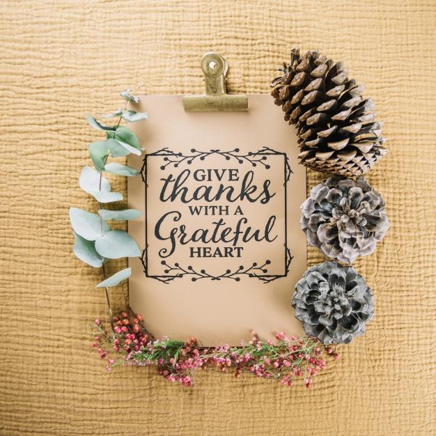 Thanksgiving clipboard Free Photo