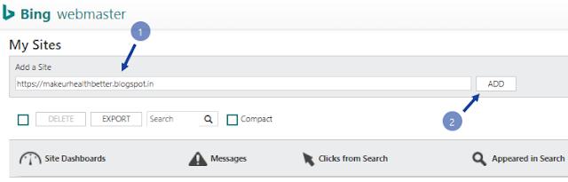 Submit blog to bing webmaster