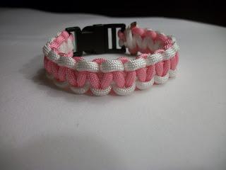 Two Color Cobra Knot Paracord Bracelet