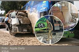 Sopir Truck Pusing Senggol Bus KMB 98D, Sopir Berubah Manusia Tanah