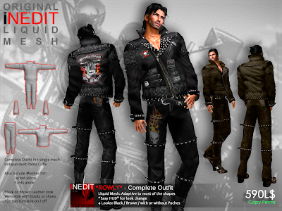 *ROWLY* ~ Mesh Outfit for Dare Men